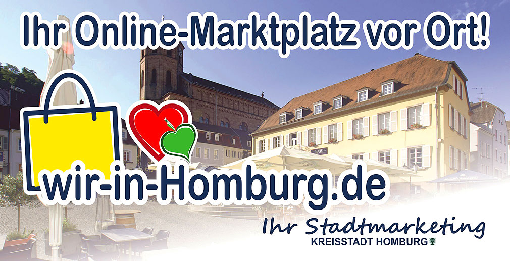 wir in Homburg Banner